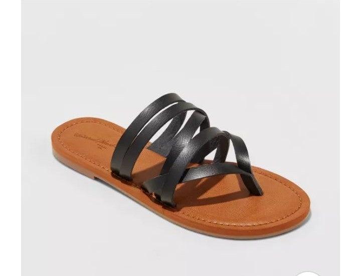"""NWT """"Maritza"""" Faux Leather Slides 8.5"""