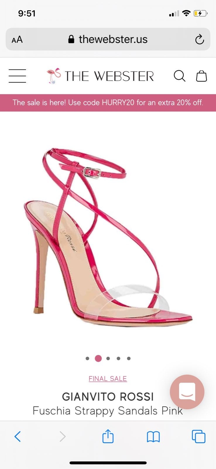 NWOT Gianvito Rossi Strappy Sandals