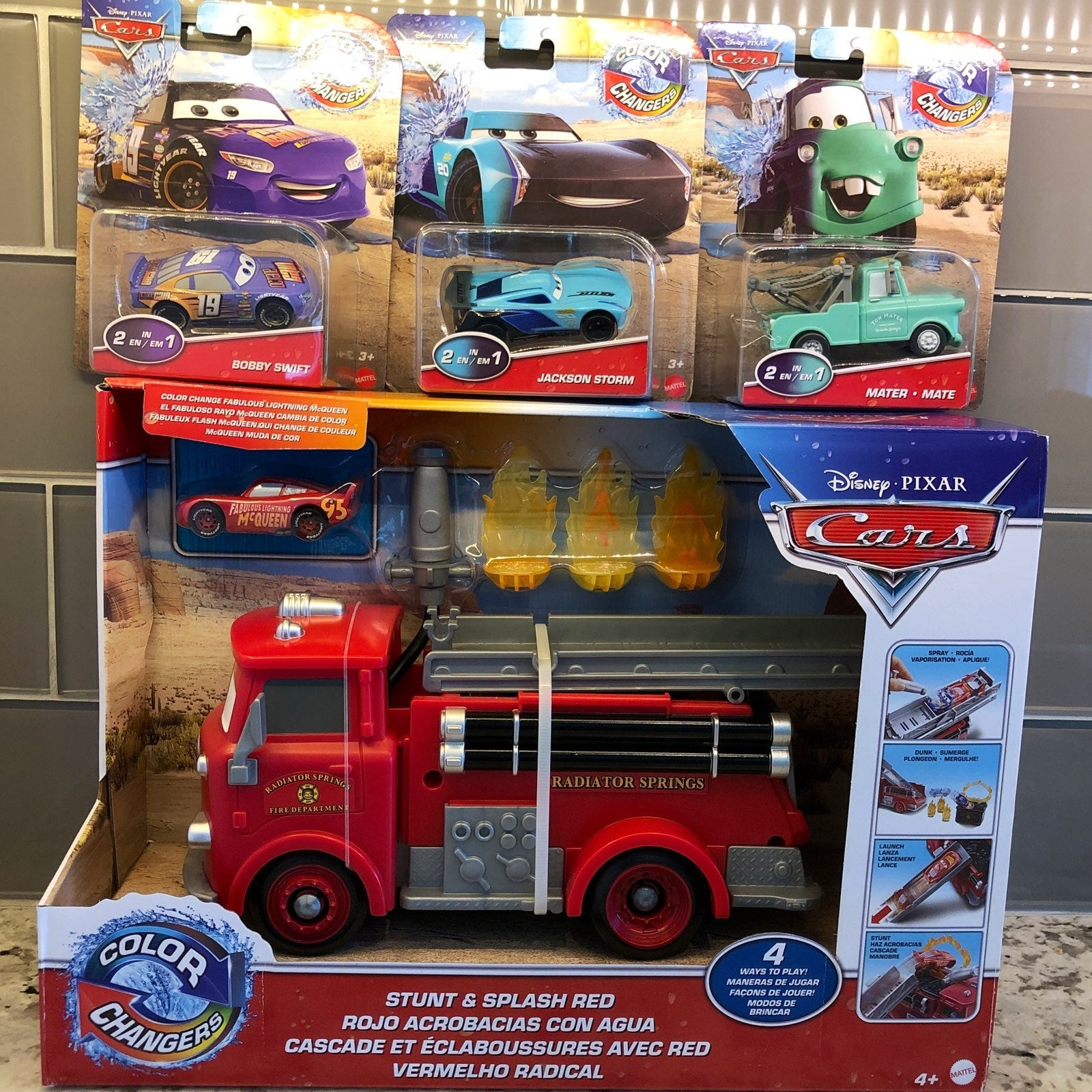 Lot of 4 Disney Cars Coloring Changers