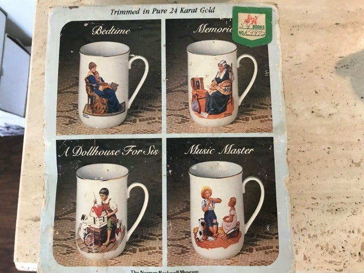 Vintage Norman Rockwell Collector's Mugs