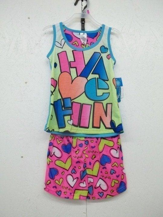 Girls 2 Pc Pajama Set-4/5-HAVE FUN