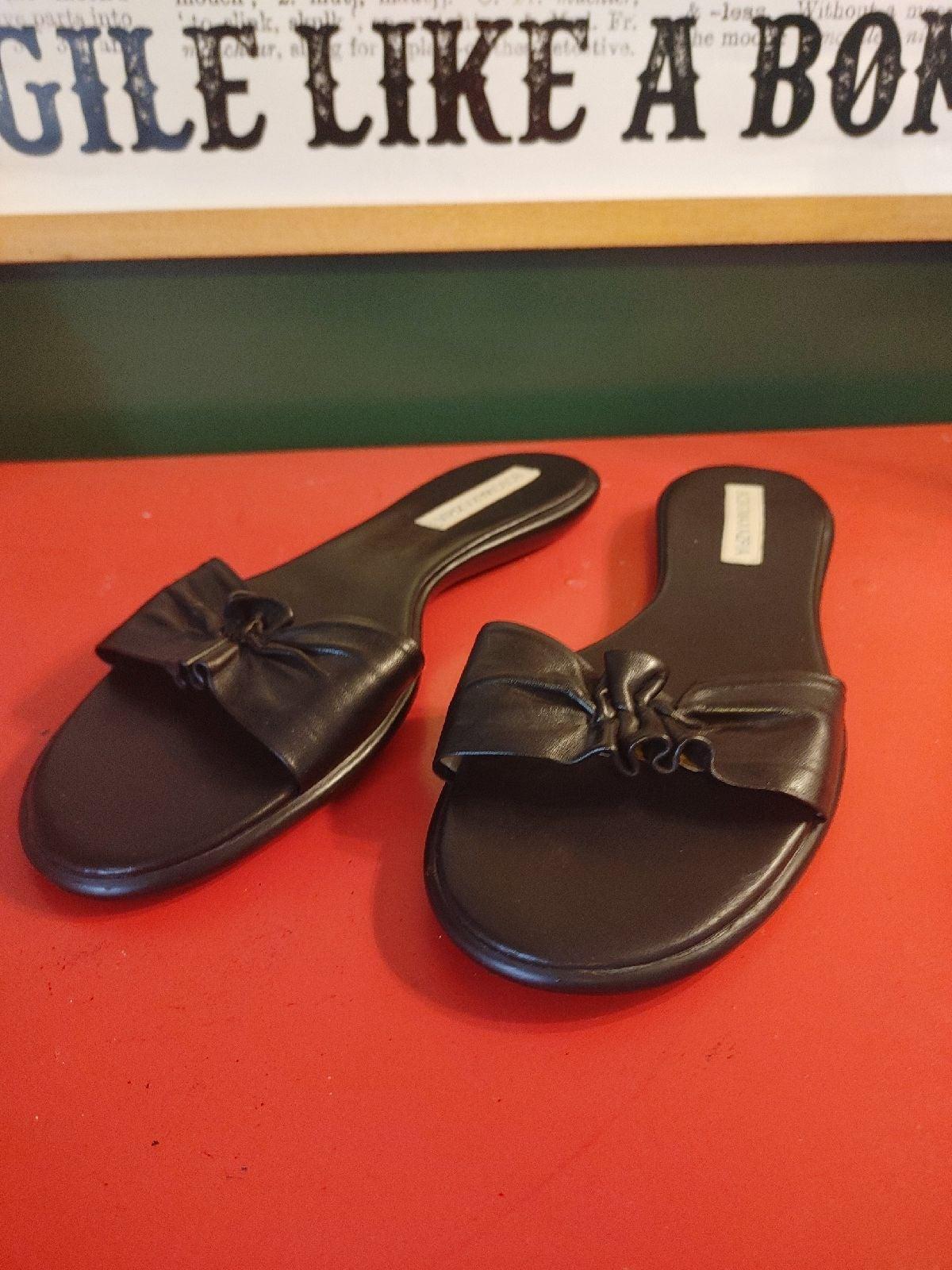 BCBG slide sandals
