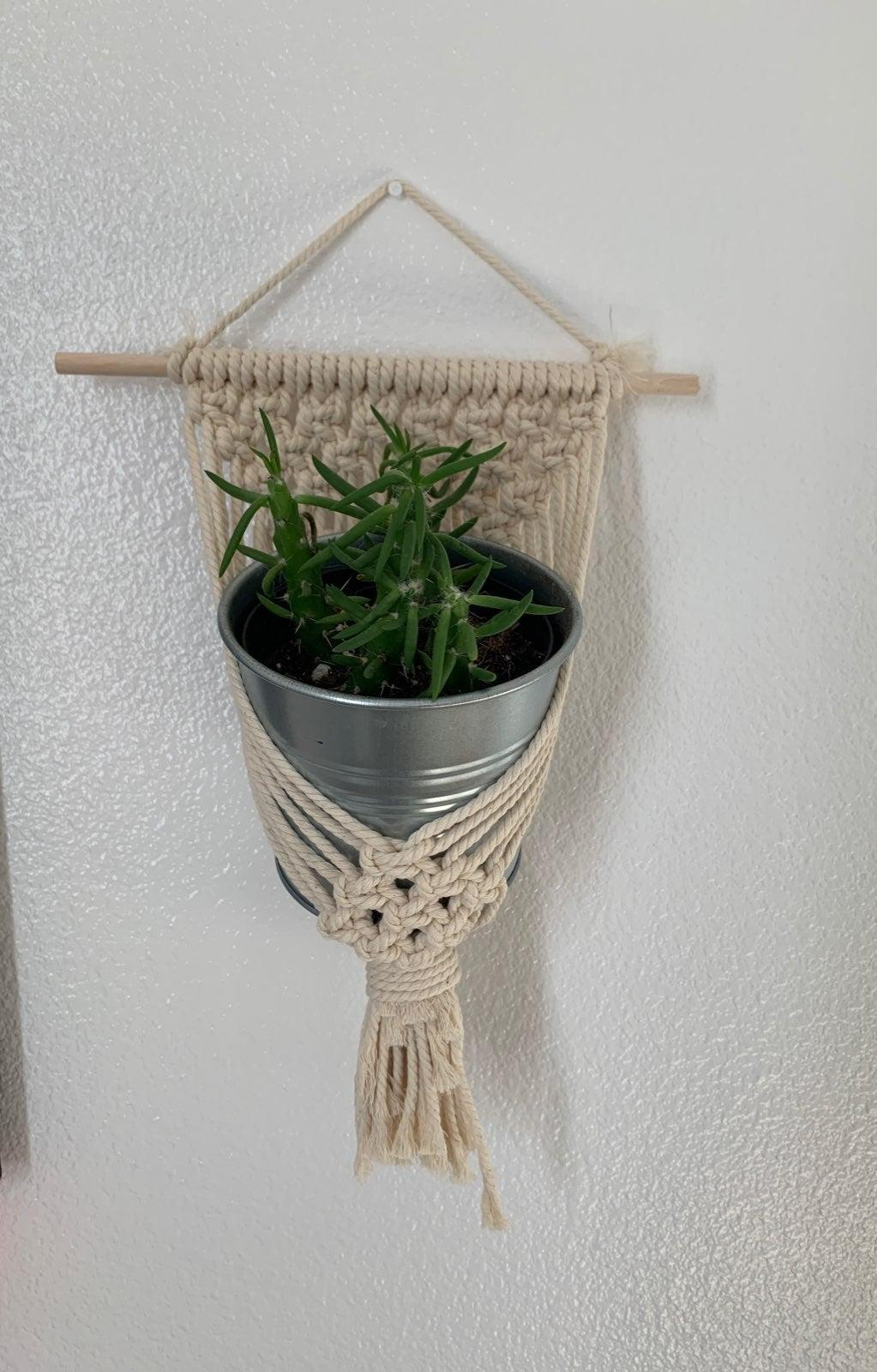 Macrame plant holder!