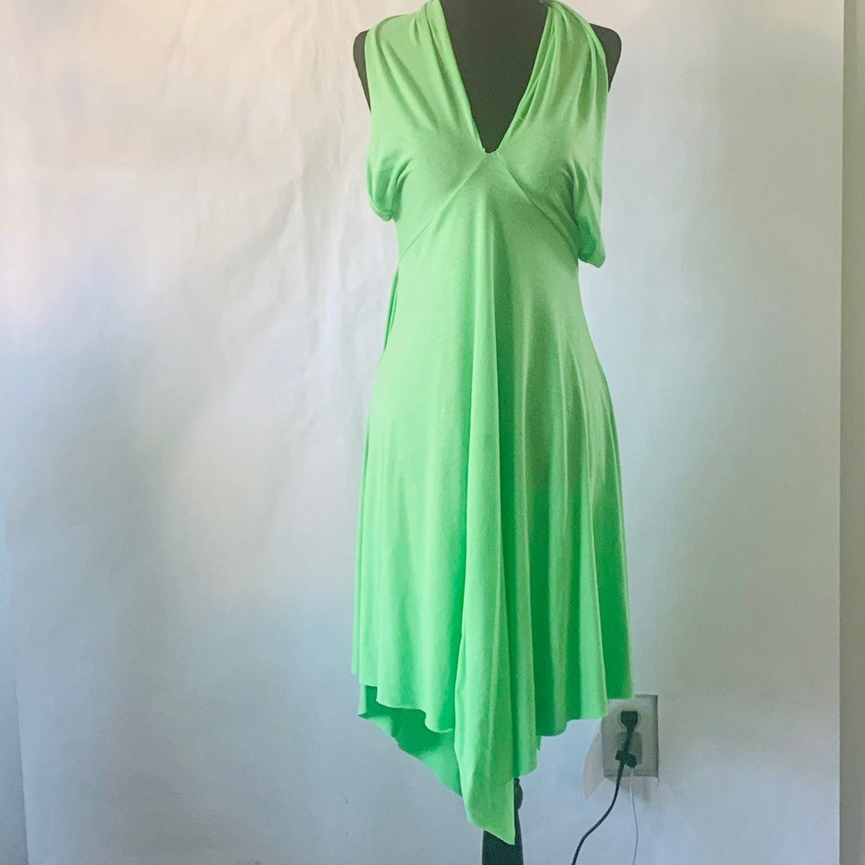 Cover Me Swim halter cover up lime green