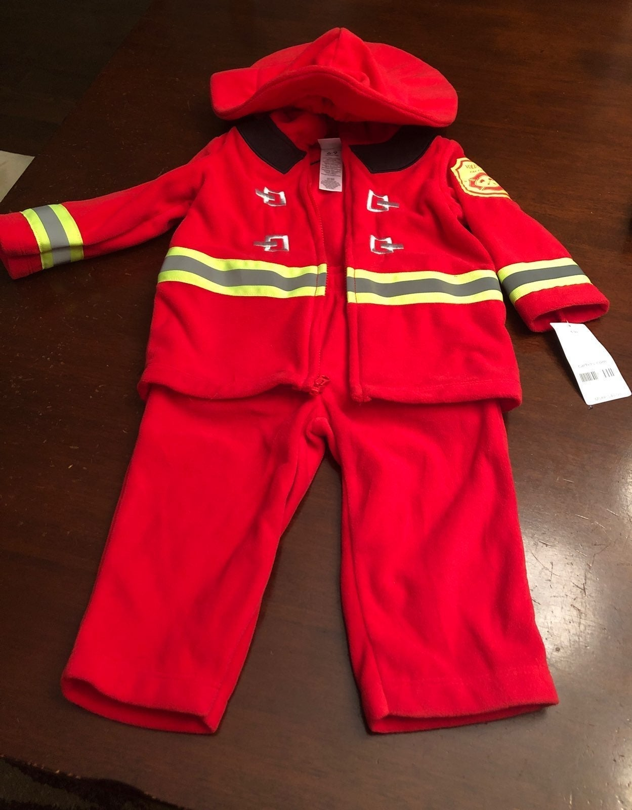Infant fleece firefighter outfit