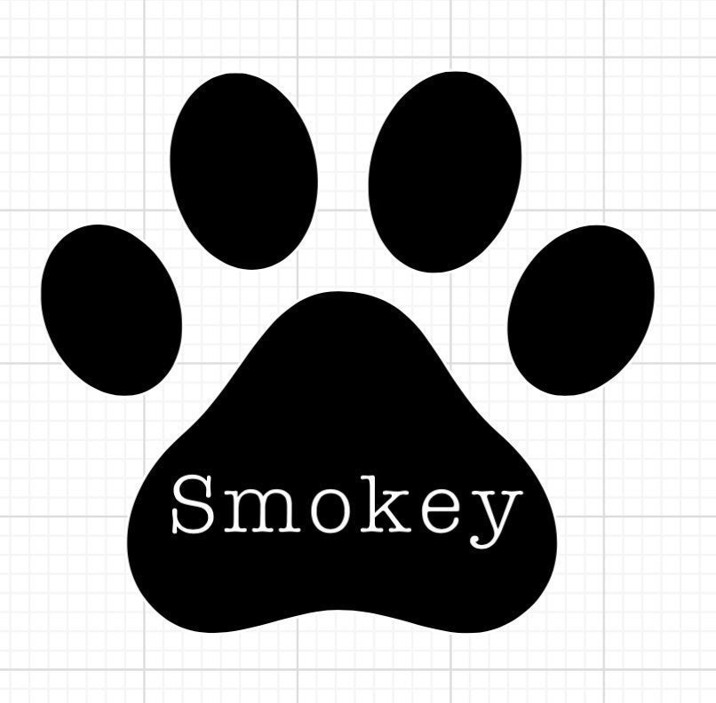 Personalized pet name decals