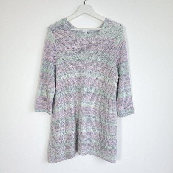 J. Jill Pastel Striped Knit Tunic Top