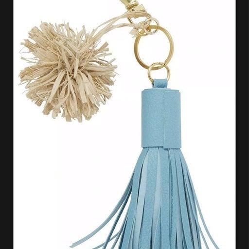 C.R. Gibson Keychain - Turquoise tassel,