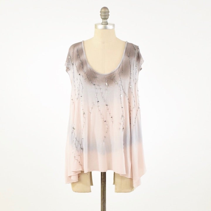 AllSaints Tie-Dyed Jersey Beaded T-Shirt