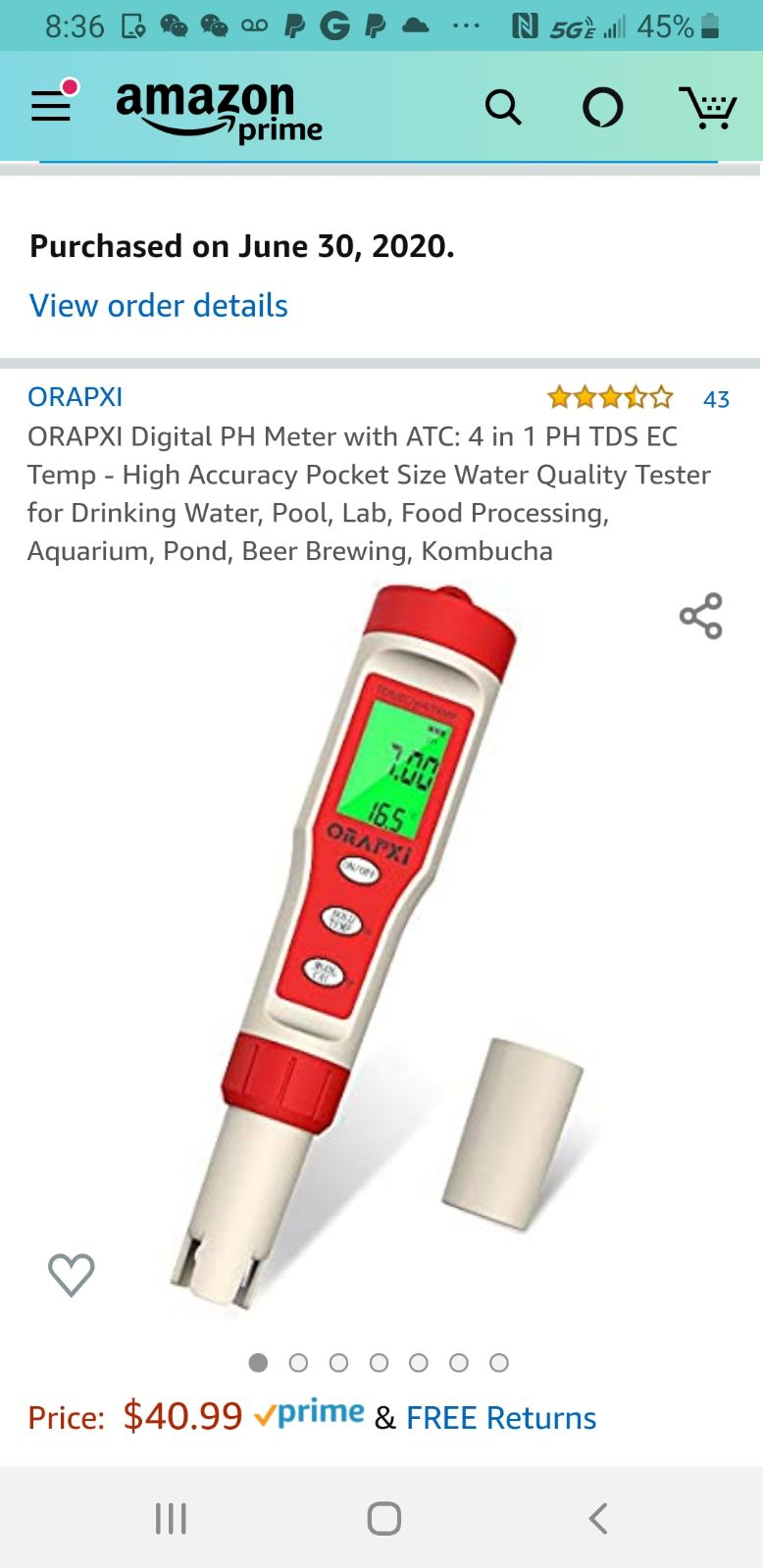 Digital PH Meter/tester with ATC NEW
