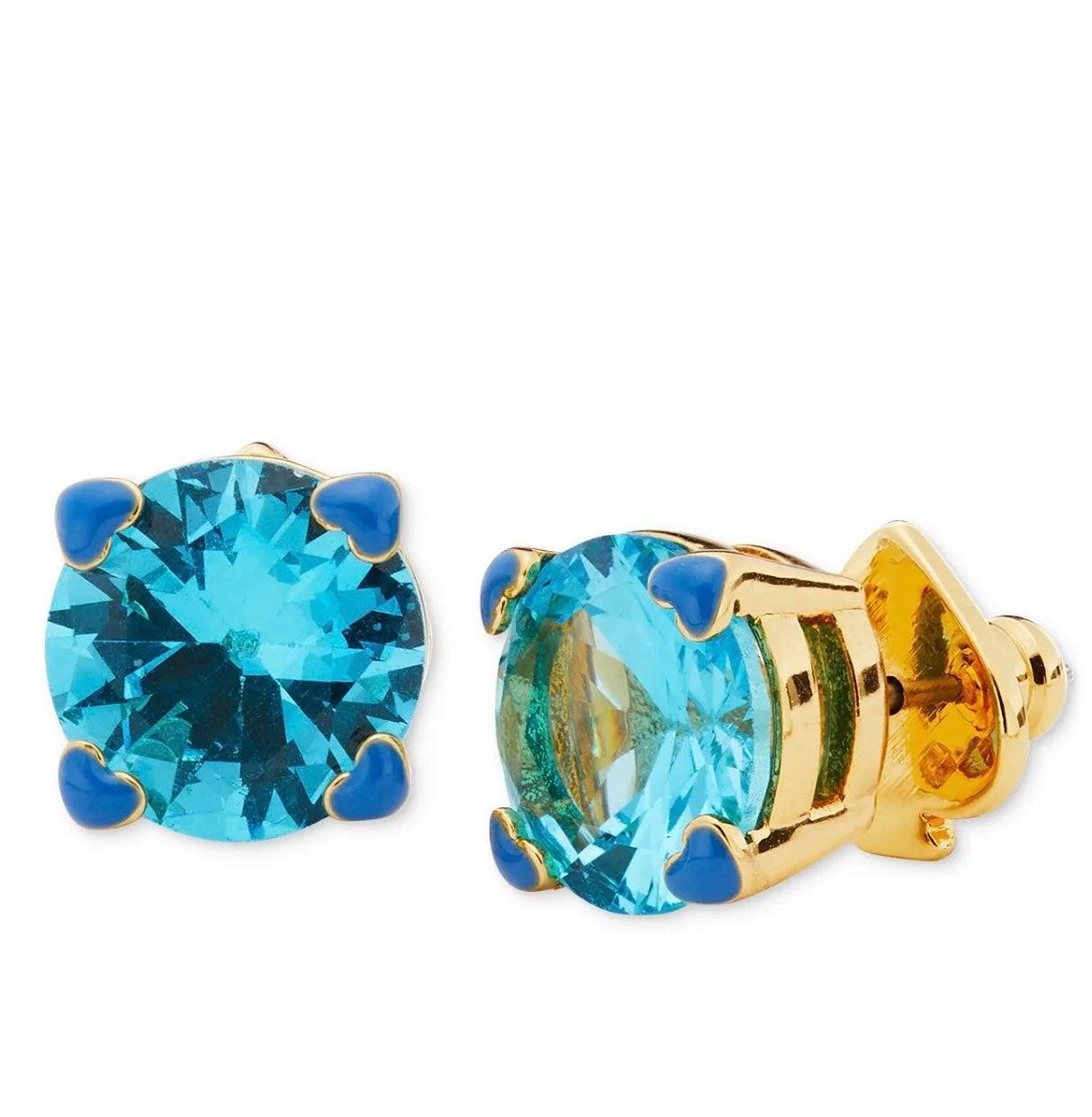 Kate Spade 4-Heart Blue Crystal Earring
