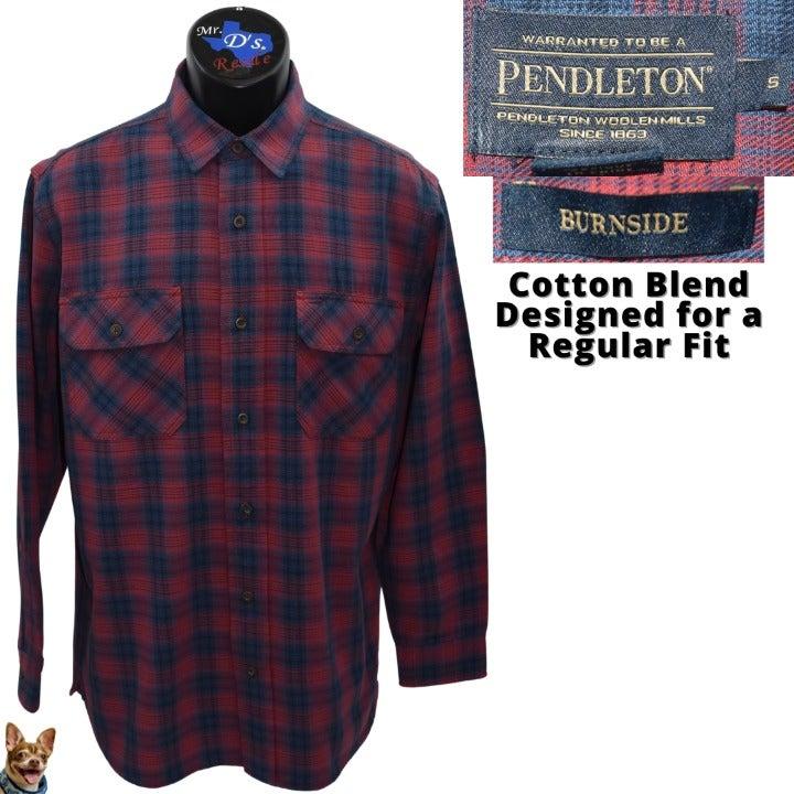 Pendleton Burnside S Red Navy Flannel