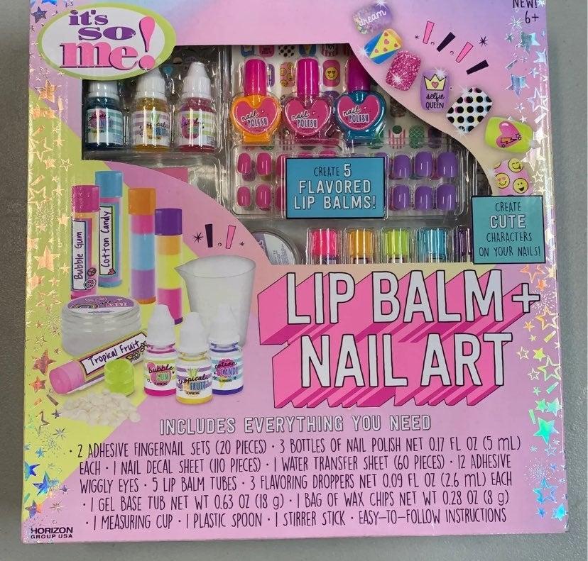Lip Balm + Nail Art creative cute set
