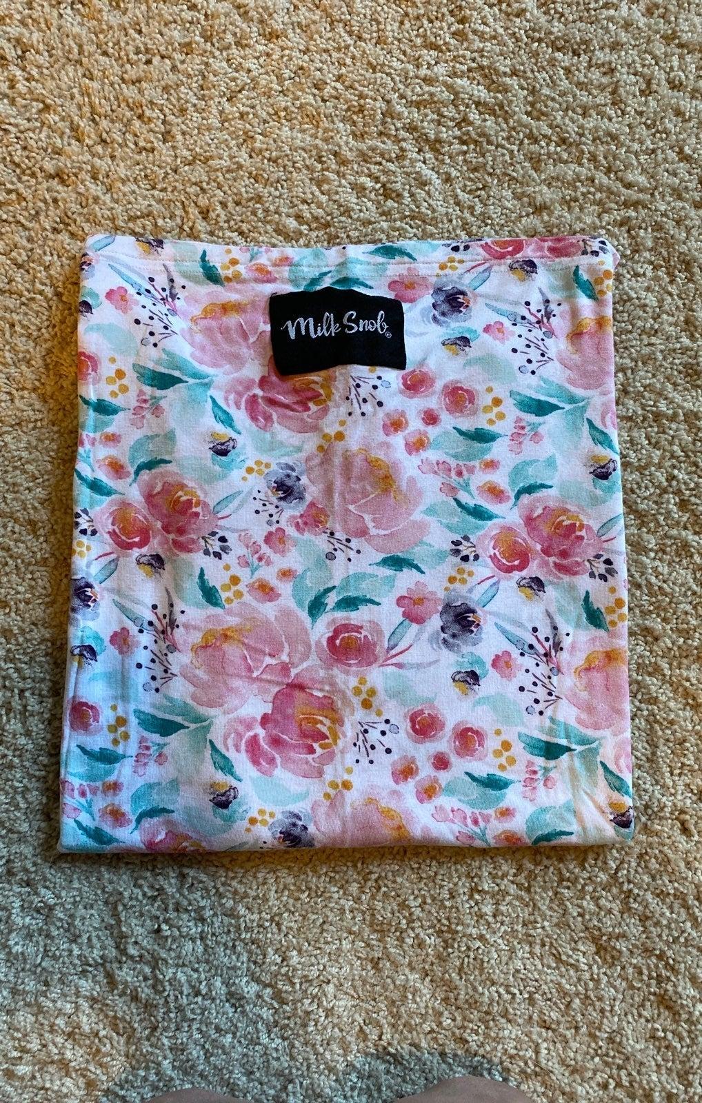 Milk Snob carseat nursing cover pink flo