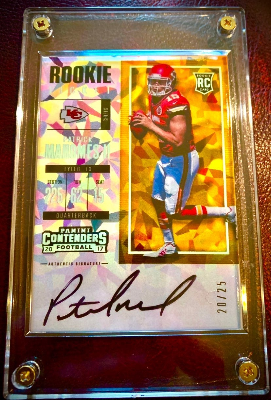 Patrick Mahomes Autographed Rookie RP Ca