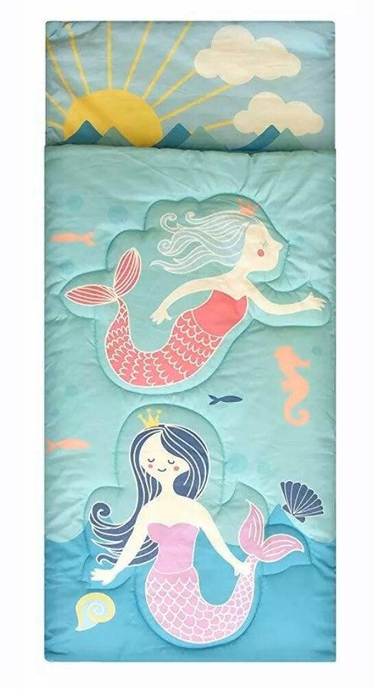 Kids Mermaid Girls Colorful Sleeping Bag