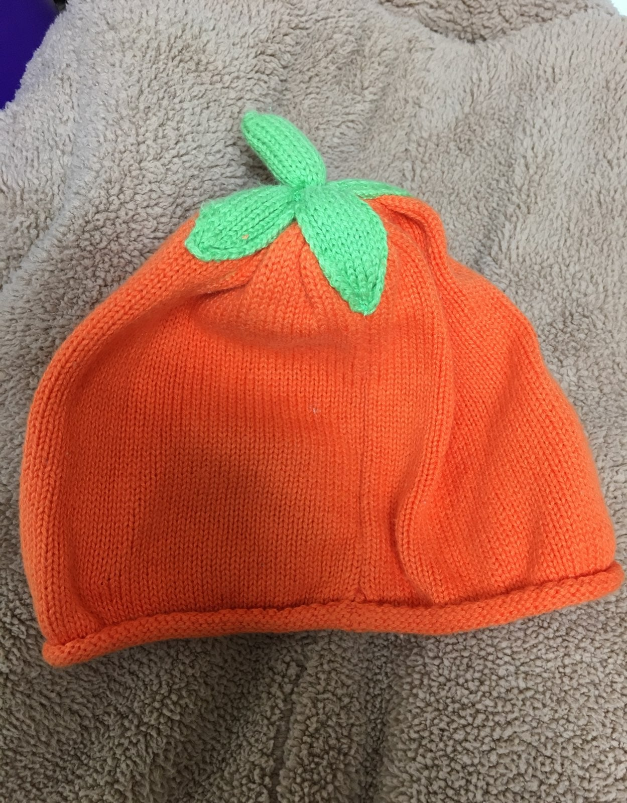 Gymboree baby pumpkin hat knit
