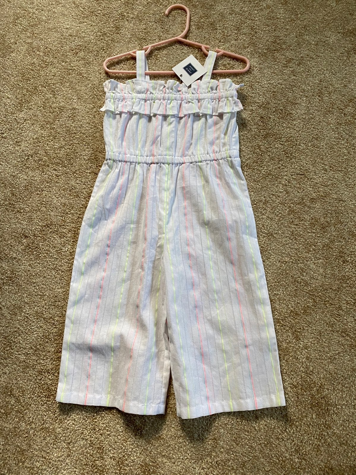 White Janie and Jack Jumpsuit