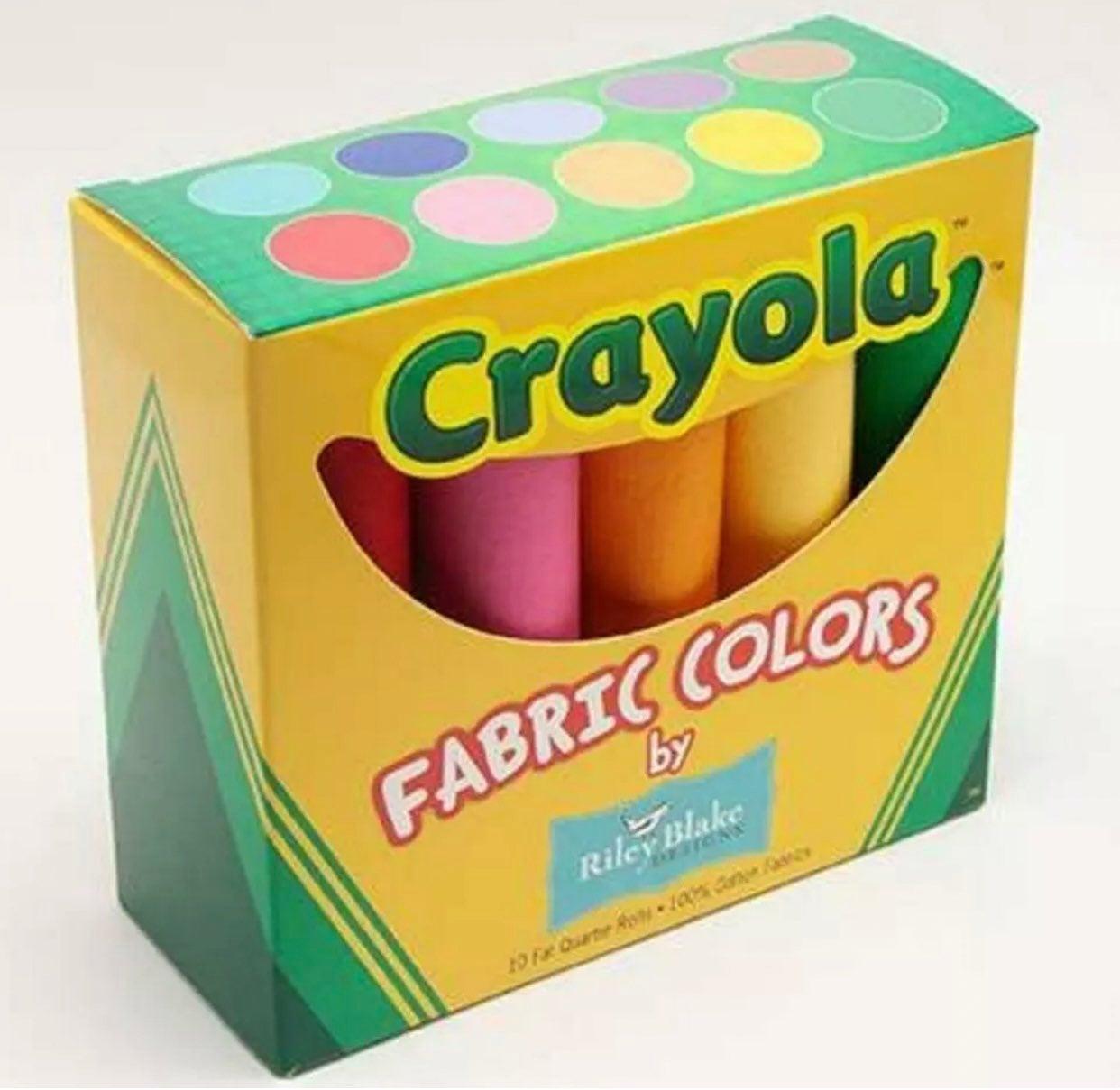 Riley Blake Crayola Fat Quarters Fabric