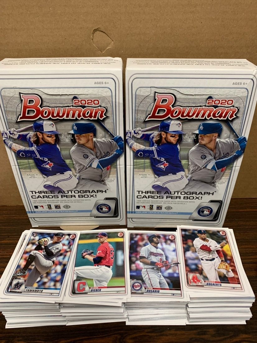 Lot of 30 2020 Bowman Baseball Cards