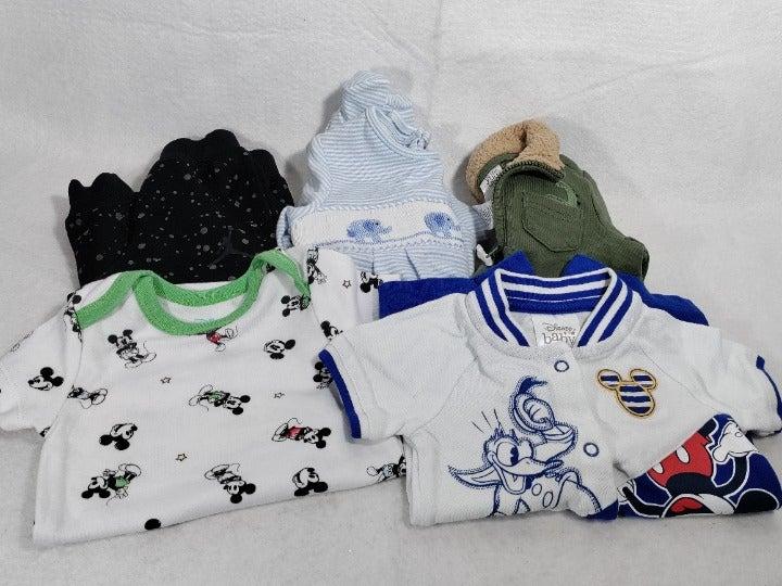 Boys lot of 5 tops & bottoms Disney Carter's Edgehill Collection 3M-6M