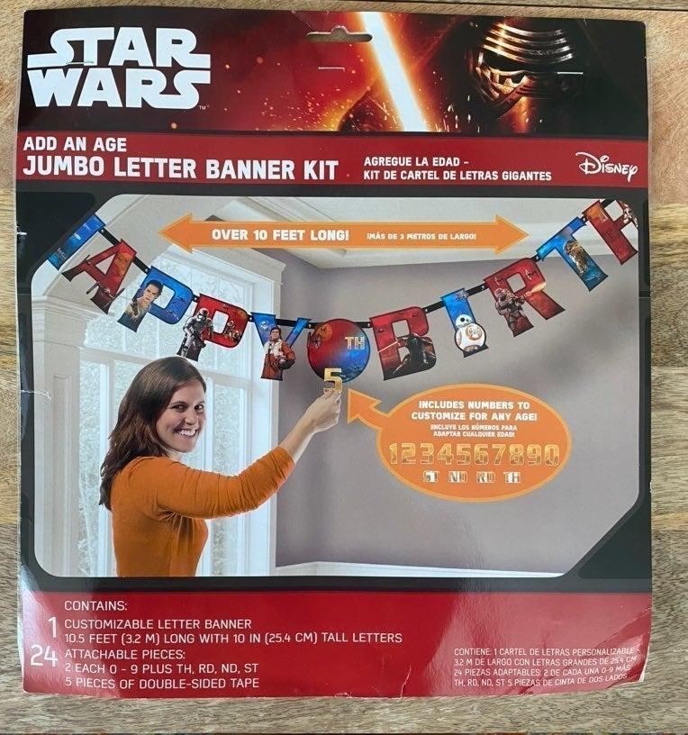Star Wars Happy Birthday Banner Kit
