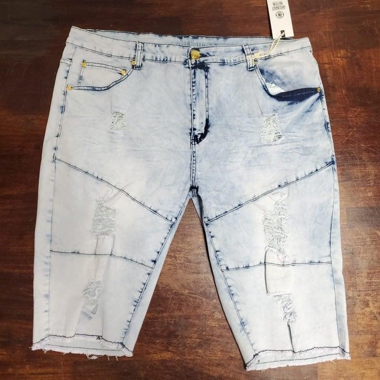 Sz various light blue jean shorts