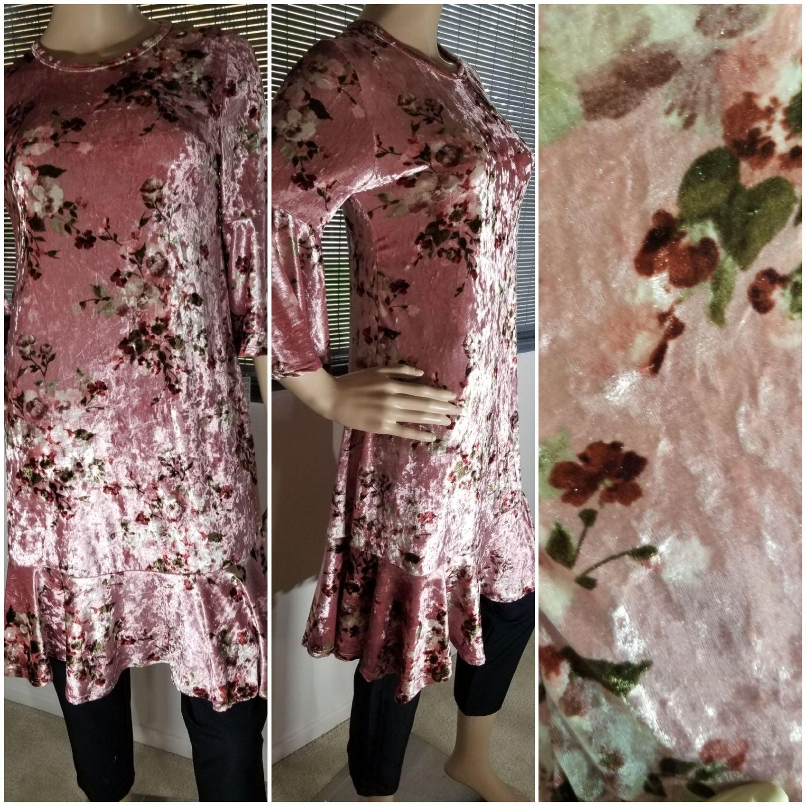 Lularoe Maurine Velvet Pink NWT XXS
