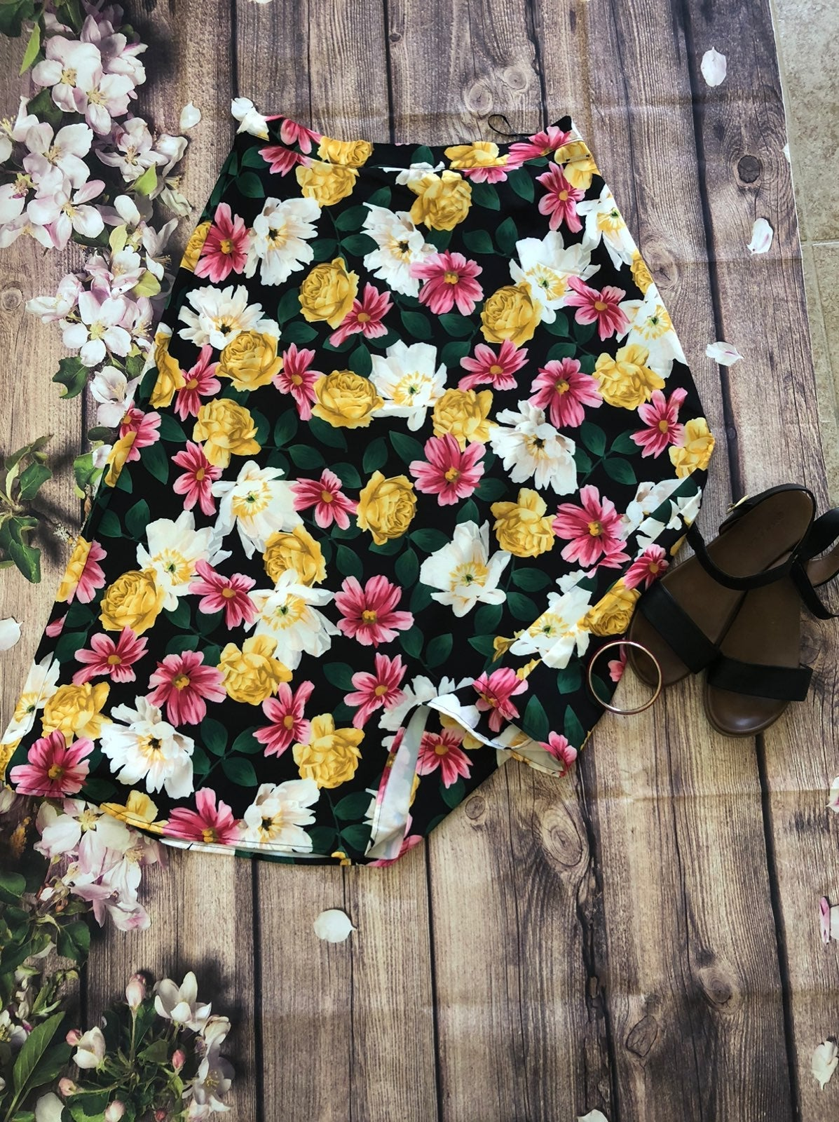 Night Garden Midi Skirt