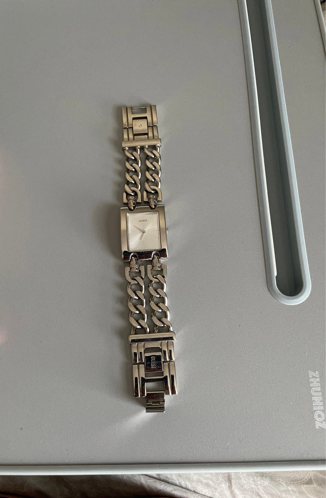 GUESS white gold watches for women