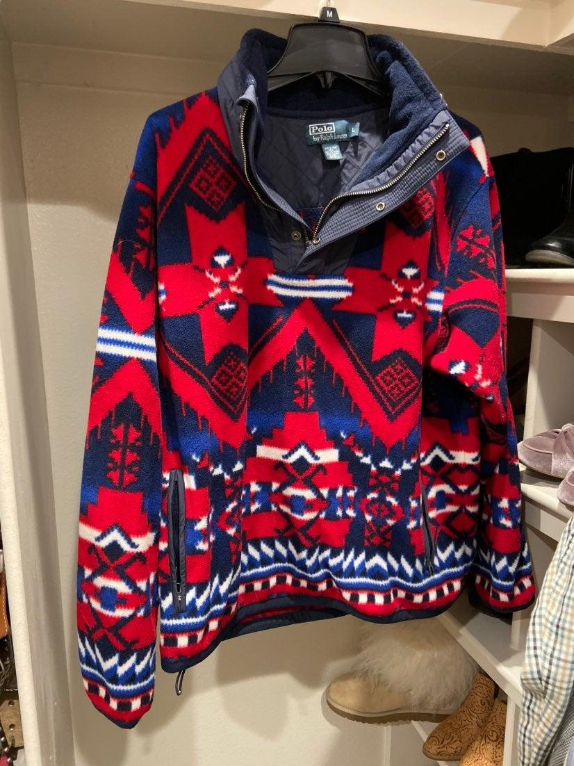 Polo fleece pullover