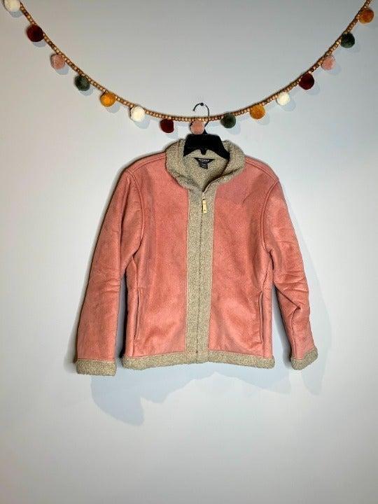 Woolrich pink sherpa lined jacket