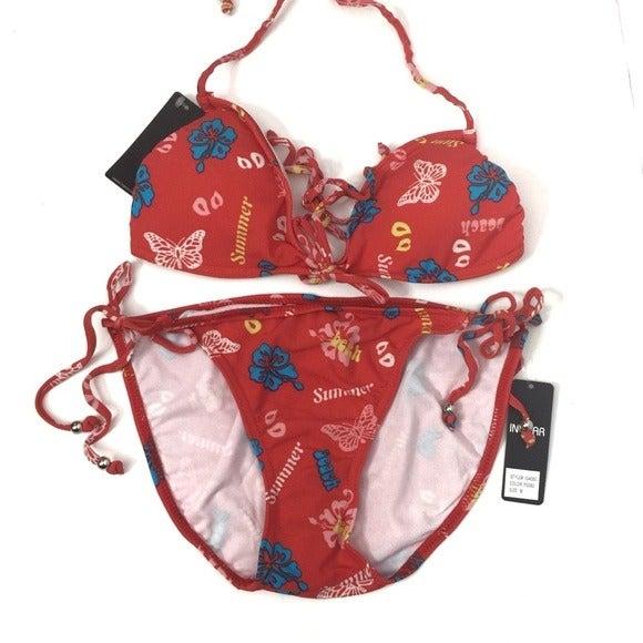 Ingear Butterfly Floral Print Swimsuit