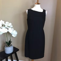 9425d8c2014 Tahari Black Sleeveless Sheath Dress
