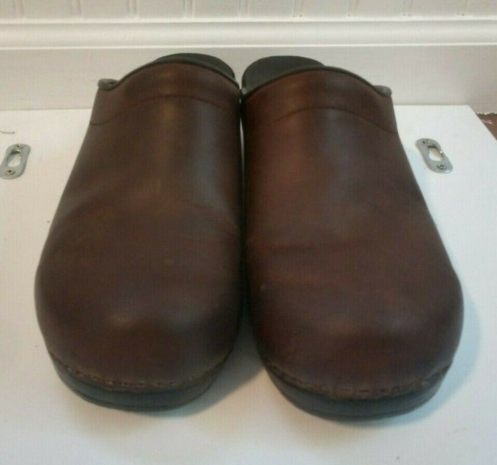 DANSKO Sonja Antique Brown CLOGS Size 41