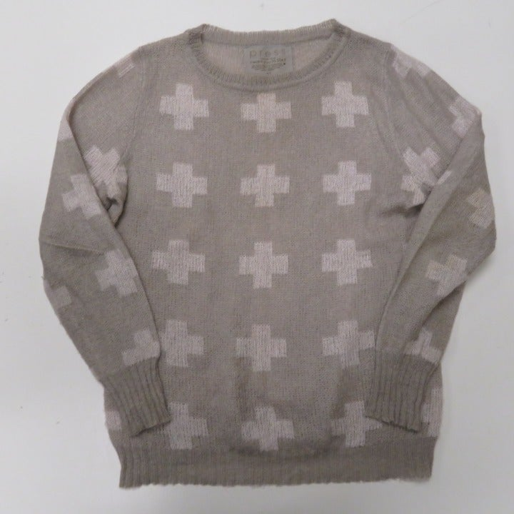 Press Mohair Sweater Cross Plus Soft