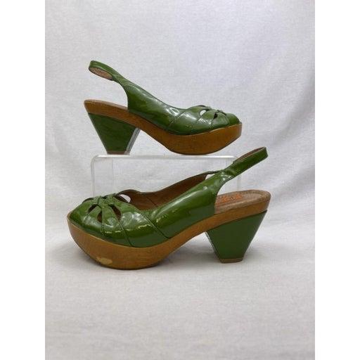 Women's Miz Mooz Green Heels Size 7
