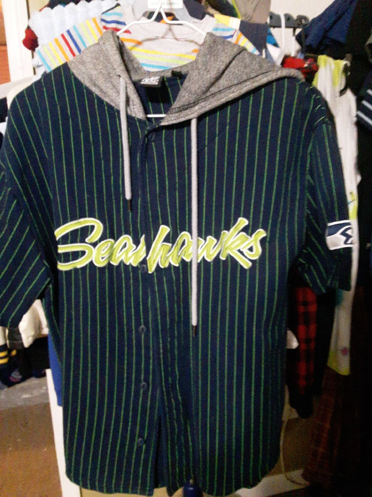 Seattle Seahawks button up shirt