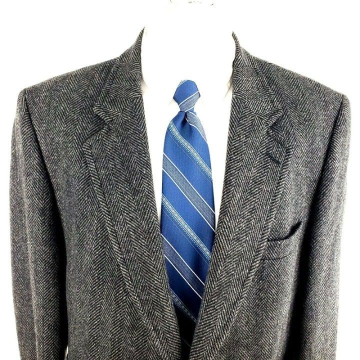Savile Row 42R 2 Button Tweed Wool