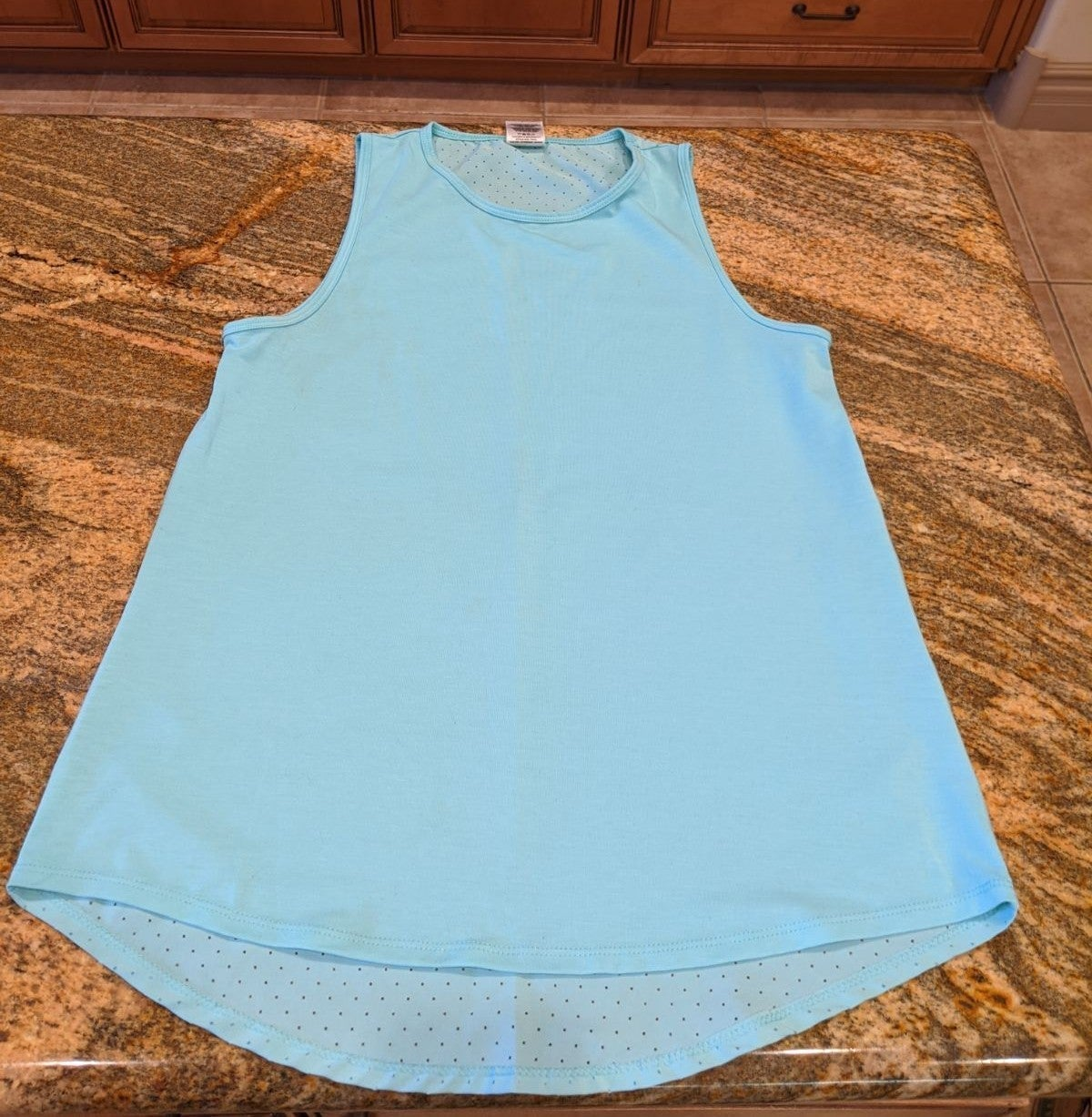 Tank Top Turquoise Laser Cut AVIA Small