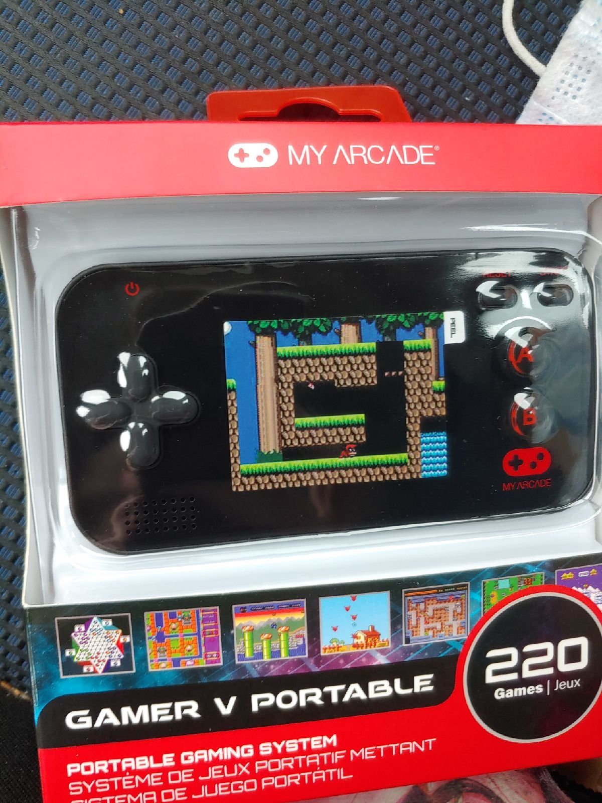 Handheld console video game system