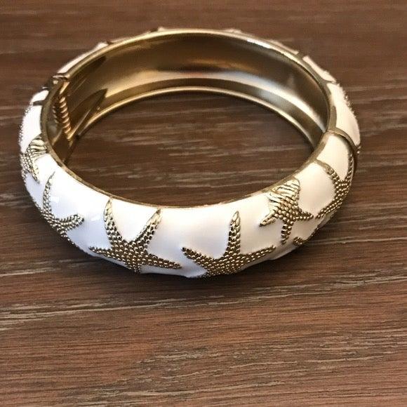 Talbots Enamel Starfish Bangle Bracelet