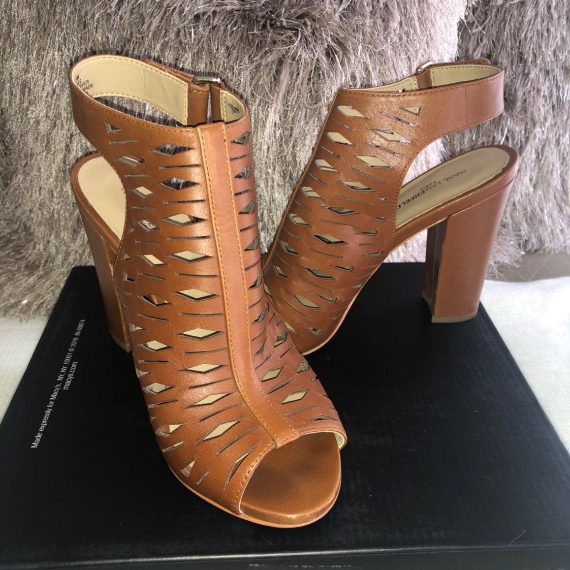 Karl Lagerfeld Rennes Block Heel Sandals