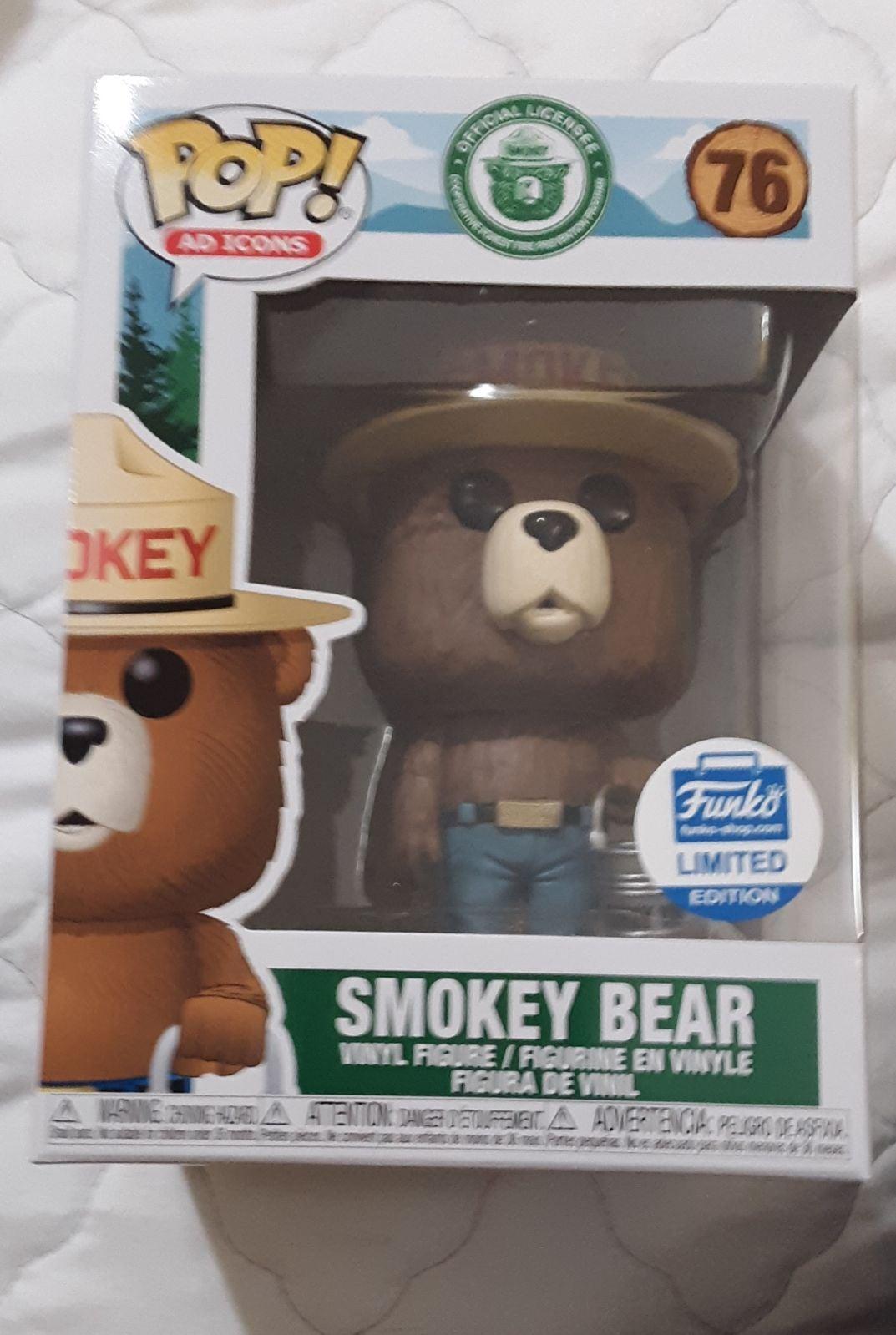 Funko Pop ad icon Smokey Bear limited ed