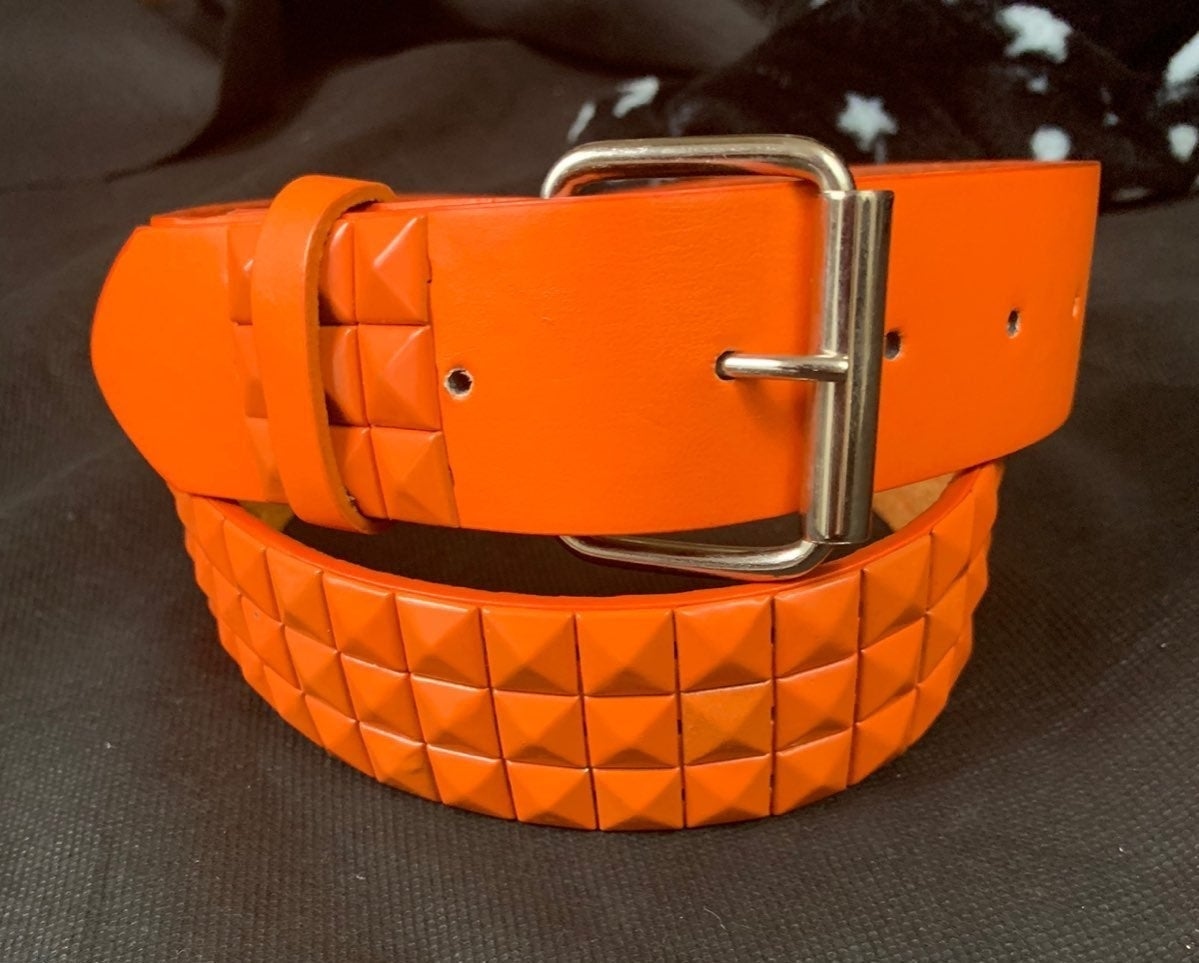 Studded Orange Belt