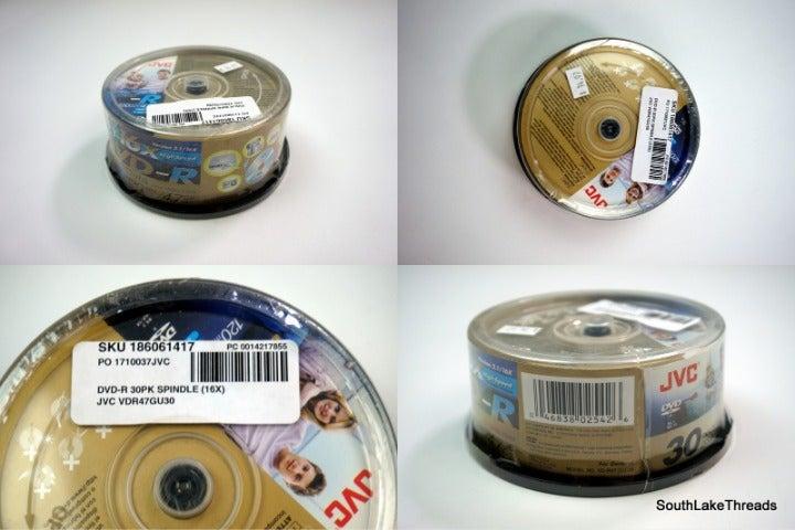 30 Pack 16x High Speed JVC DVD-R 4.7 GB
