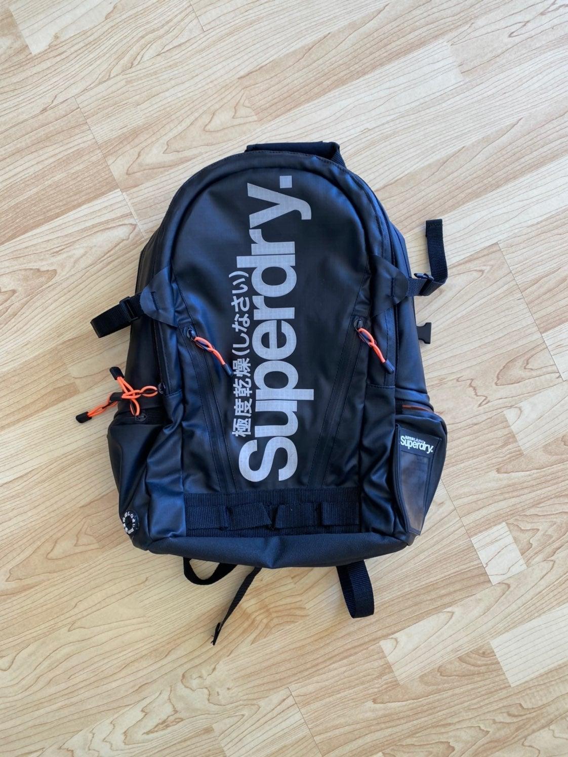 Superdry Black & Orange Backpack