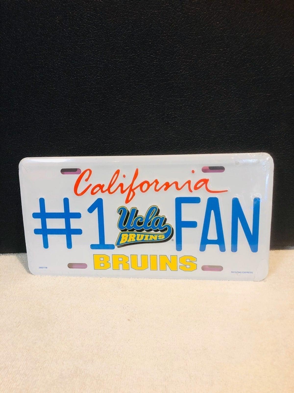 UCLA license plate