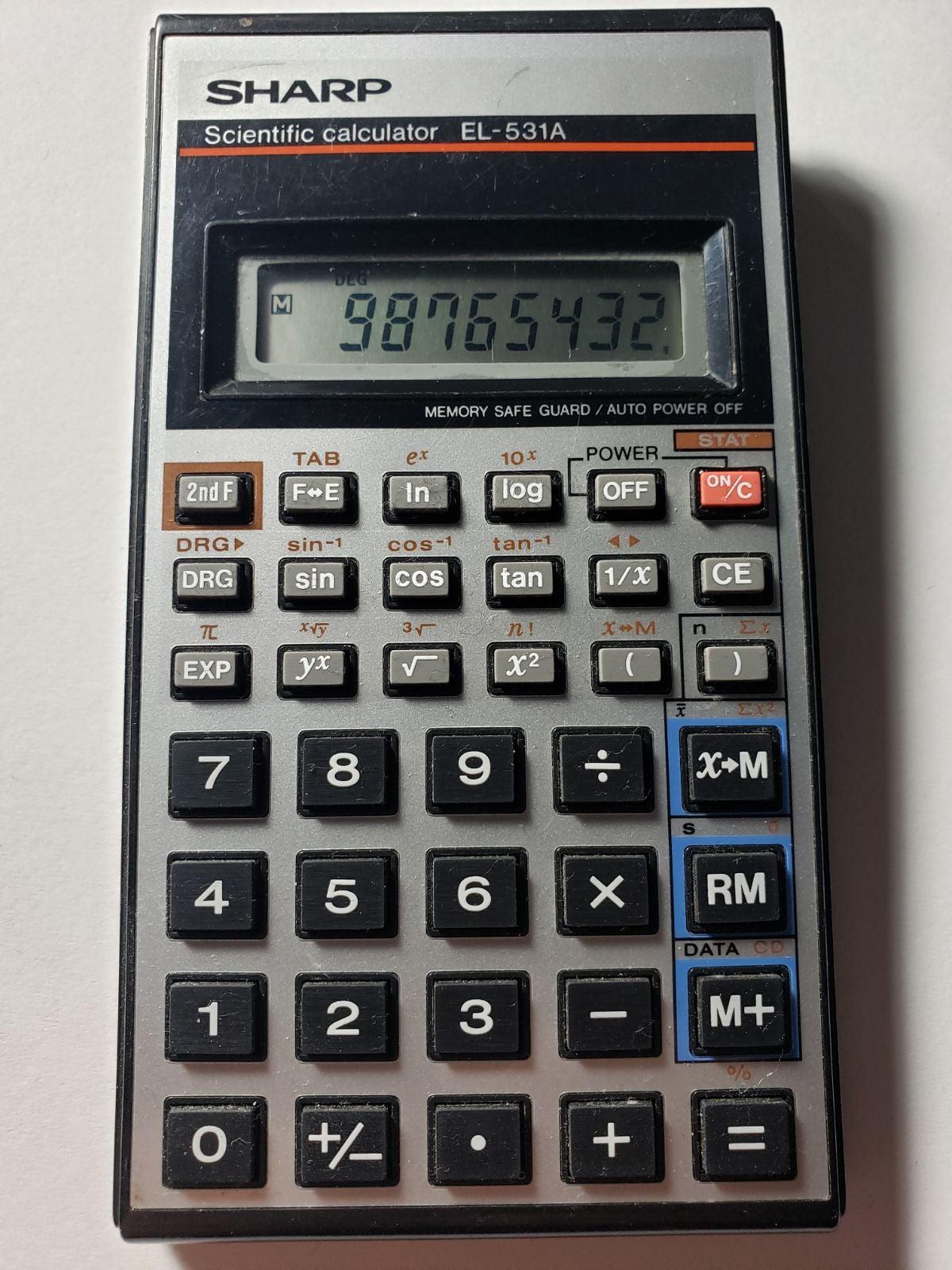 Sharp EL506WBk Scientific Calculator