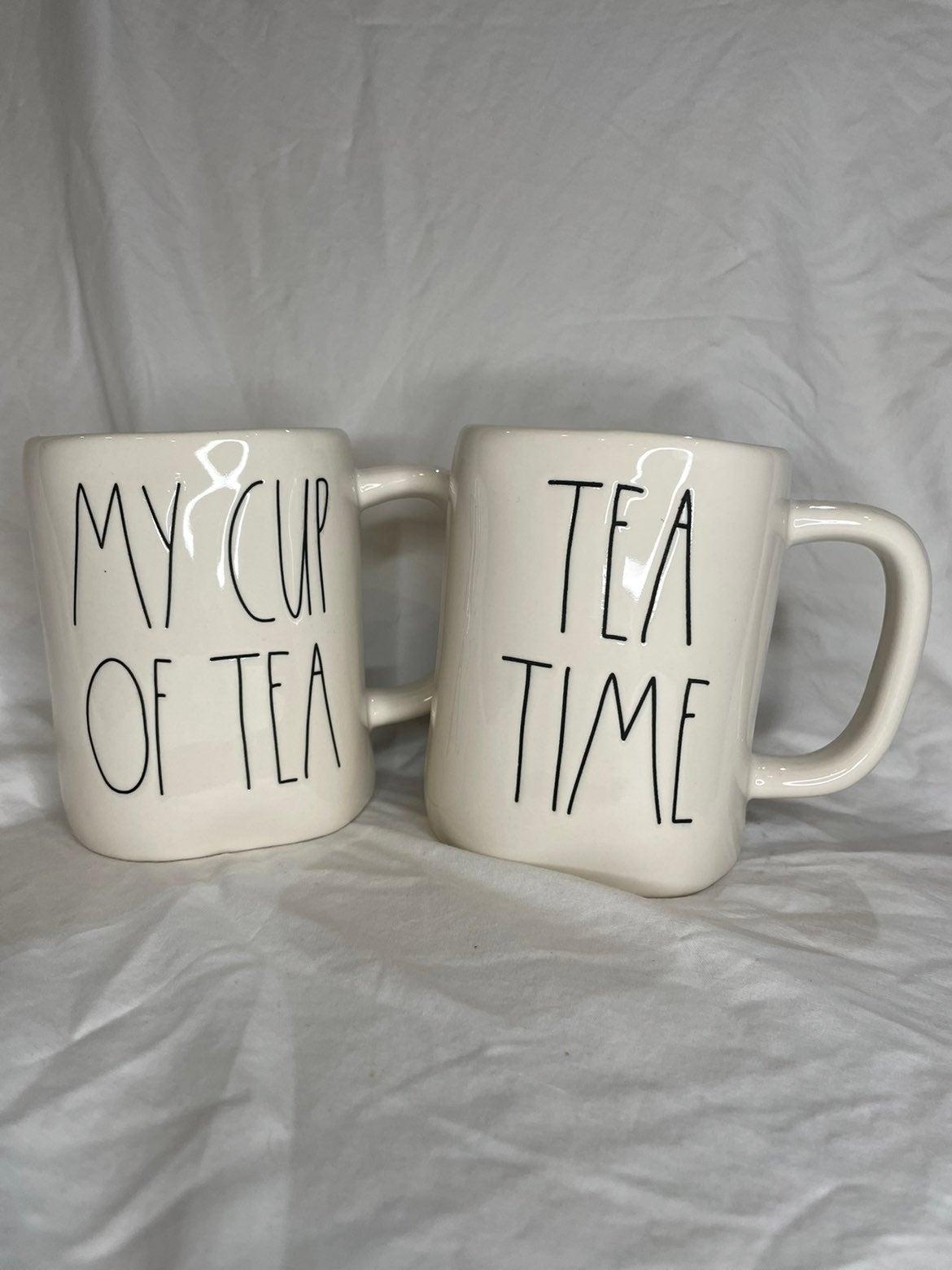 Rae Dunn MY CUP OF TEA & TEA TIME Yellow